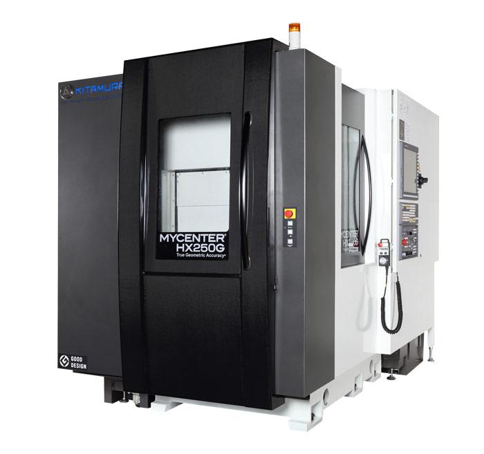 Centres d'usinage horizontaux pour l'usinage de pièces complexes en plusieurs posages pour de la productivité KITAMURA HX250iG