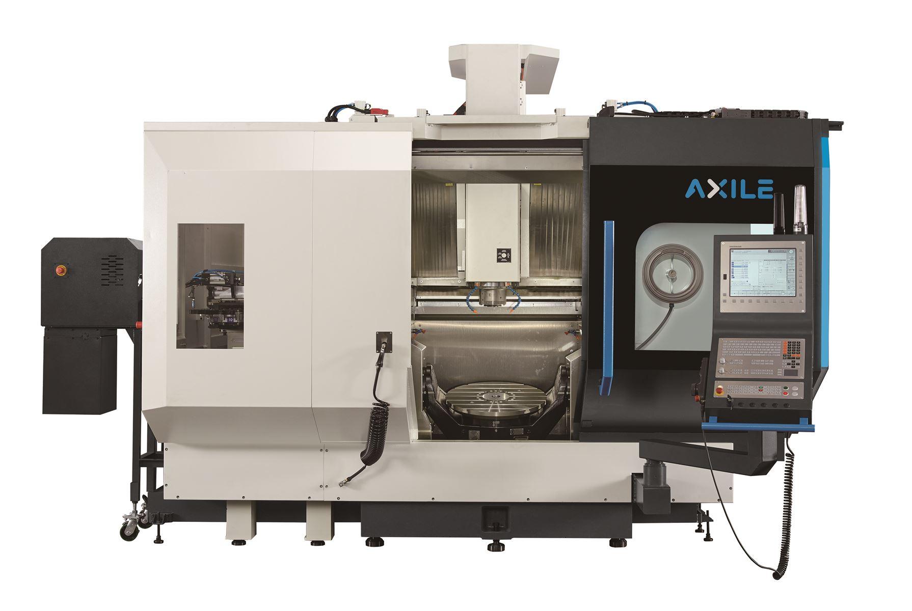 TRANSTEC MACHINES OUTILS présente le Centre Vertical 5 Axes AXILE G6 avec option tournage (1)